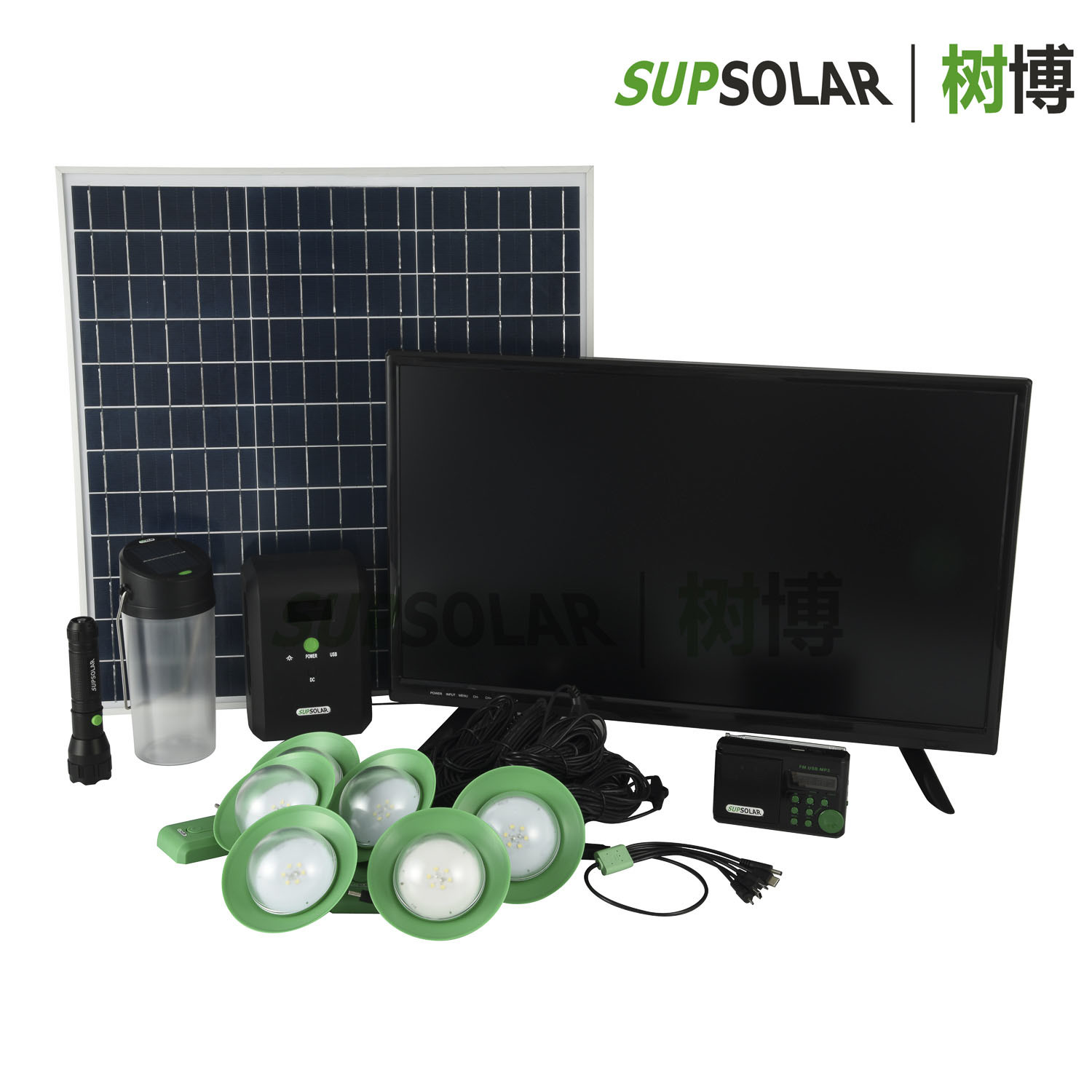 40W off-Grid Renewable Solar Energy Home System for Remote Districts pictures & photos