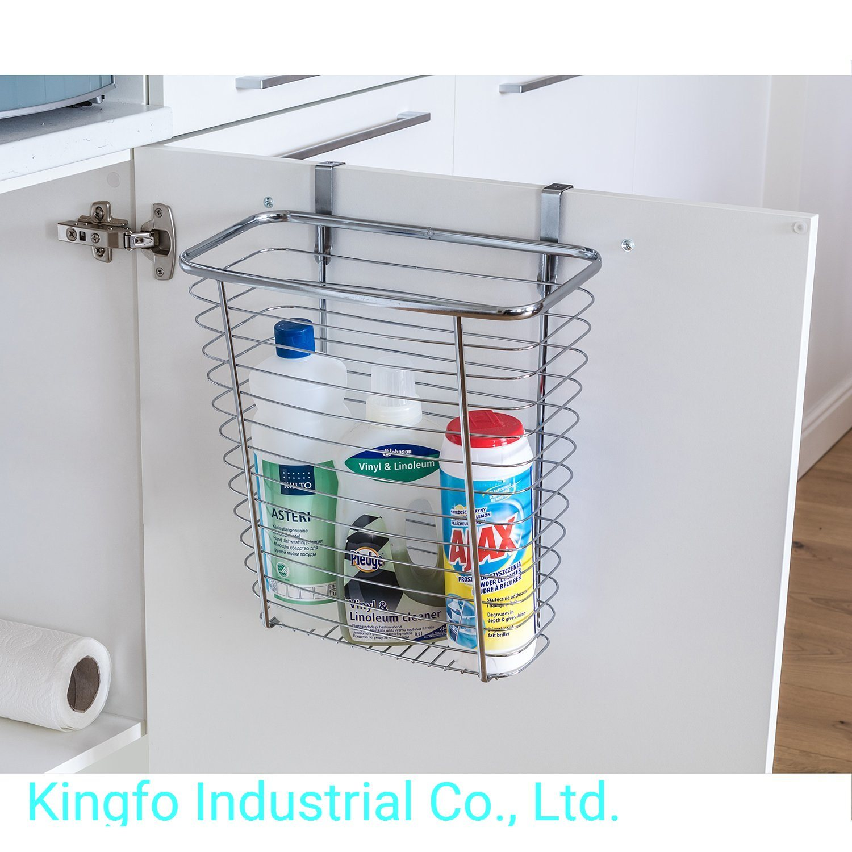China Over The Cabinet Door Storage Basket Organizer Rack Kfs70072