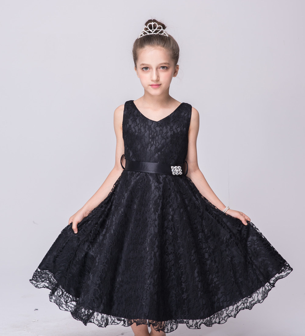 China Kids Flower Girls Lace Dress For Wedding Party Formal Party