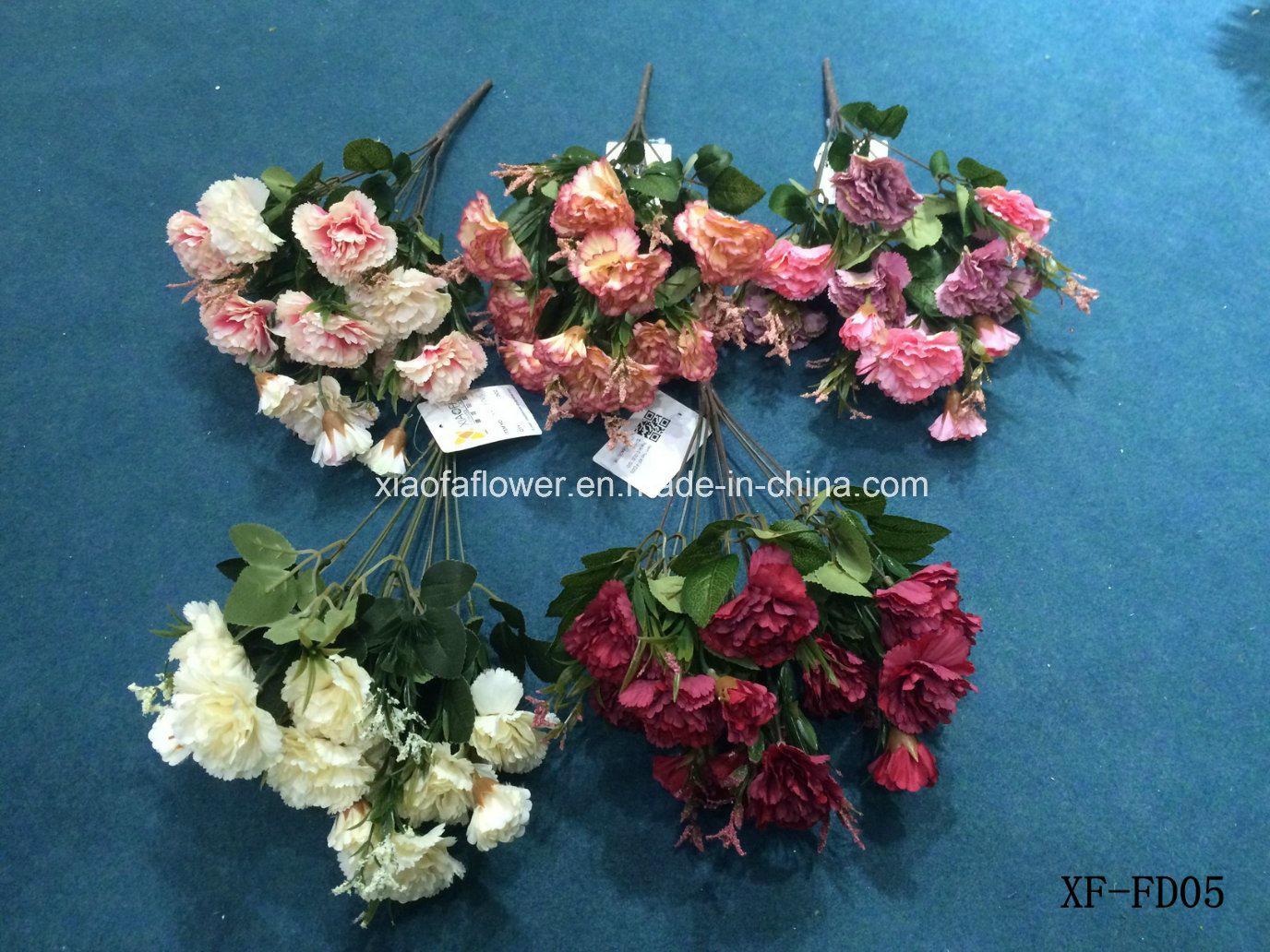 China Artificialplasticsilk Flower Chrysanthemum Bush Xf Fd15