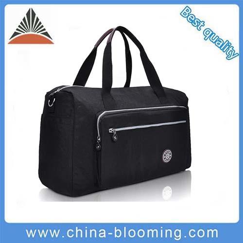 f51f724feb Unisex Wholesale Promotional Black Nylon Sport Travel Gym Duffle Bag