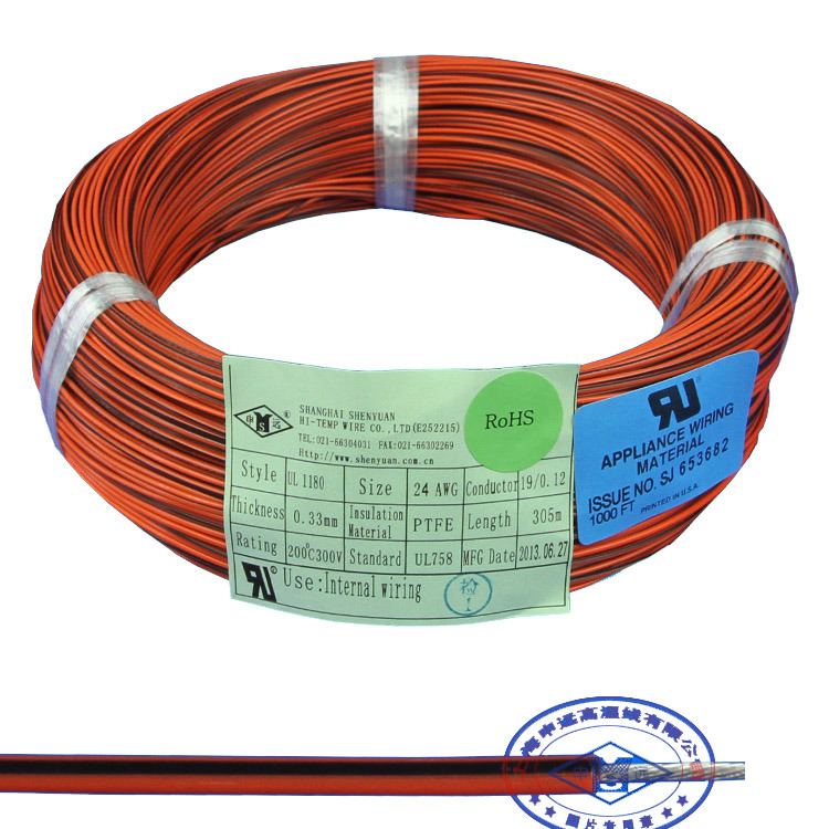 China UL1180 Teflon PTFE Cable Heatproof Insulated Copper Wire ...