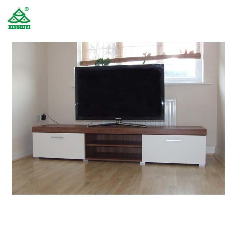 Hotel Guestroom Modern Tv Console Table Wooden Cabinets For Flat Screens