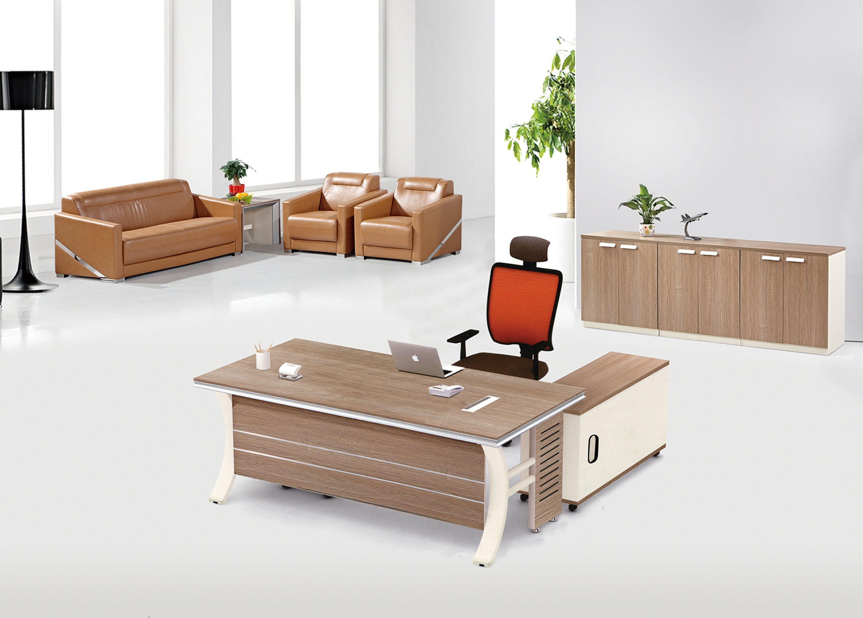 China Modern Wooden Durable Metal Executive Melamine Manager Desk Office Table Staff