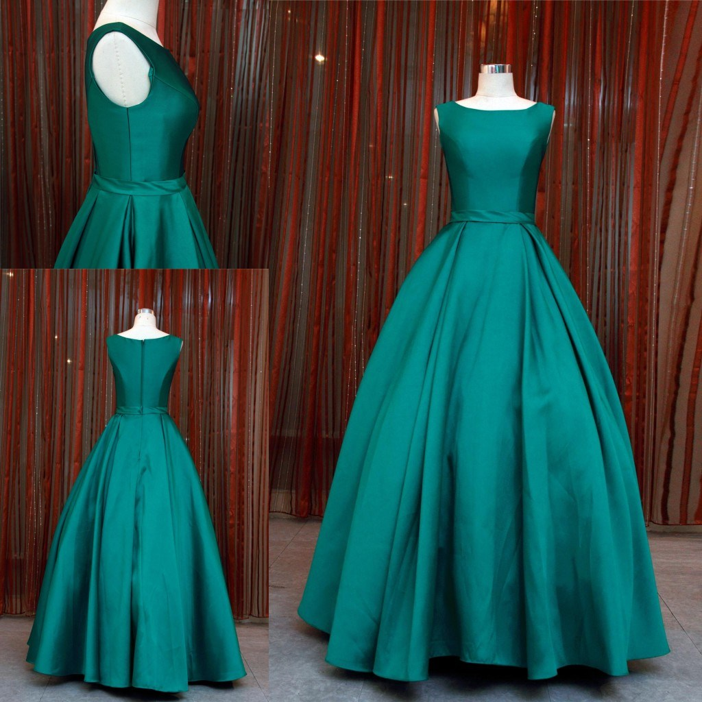 China Simple Fashion Cyan Ball Gown Party Dress Evening Gown 2018 ...