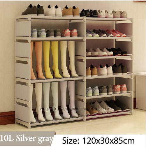 Shoe Cabinet Shoes Racks Storage Large Capacity Home Furniture DIY Simple  Portable Shoe Rack (FS 06R)
