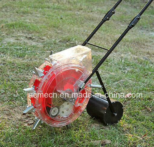 China Small Adjustable Manual Seeder Hand Push Corn Maize Cotton