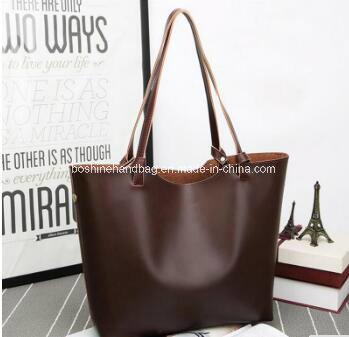 Wholesale Retro Leather Tote Big Bag Fashion Blank Should Brown Ladies  Handbags bef6f3f5c870e