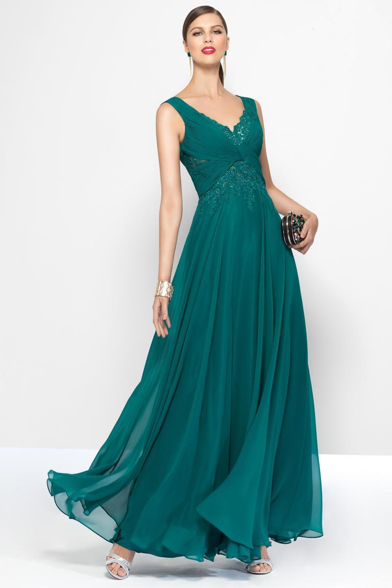 China V Neck Empire Waist Green Chiffon Pregnant Women Evening Dress ...