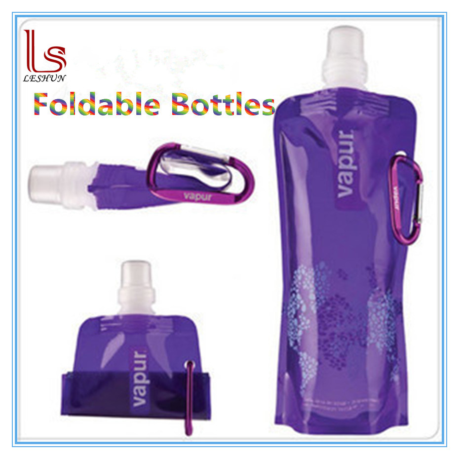 Custom Logo Foldable Outdoor 480ml Buckle Water Bottles