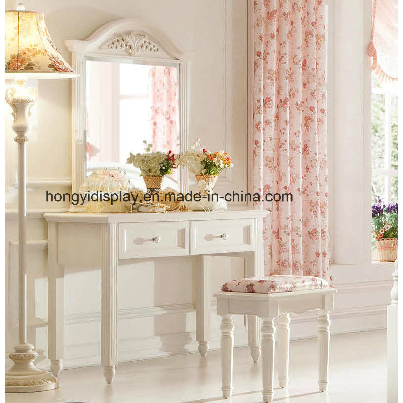 Hot Item Dressing Table Wooden Make Up With Stool Bedroom Dresser