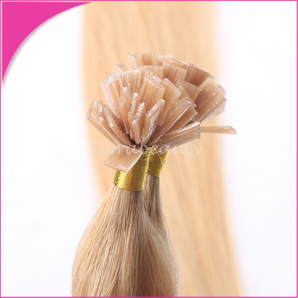 China Flat Keratin Hot Fusion Human Hair Pre Bonded Hair Extensions