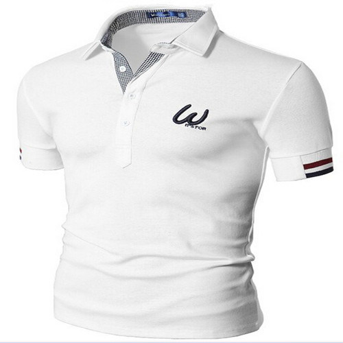China High Quality Patched Logo Embroidery Polo Shirt China High