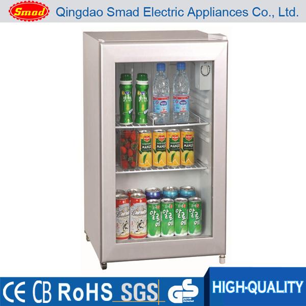 China Beverage Mini Refrigerator Countertop Glass Door Display Cooler Fridge
