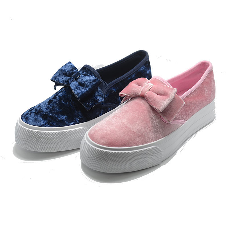 Lint Bowknot High Quality Casual School Women Ladies Student Shoes