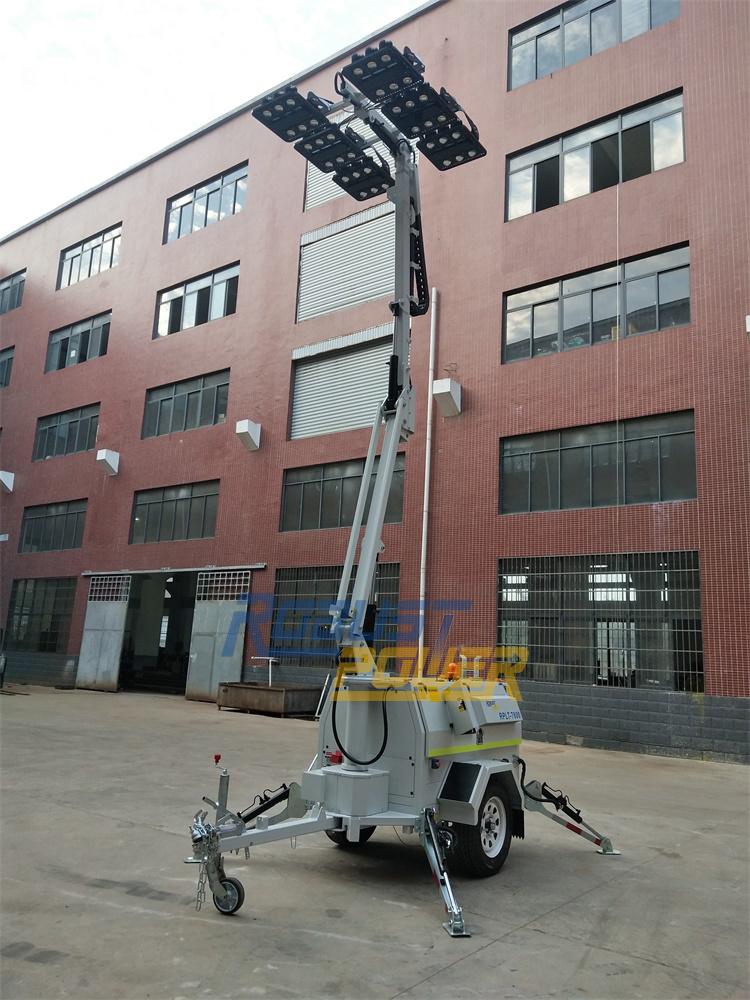 China Diesel Generator Hydraulic Telescoping Folding Mast