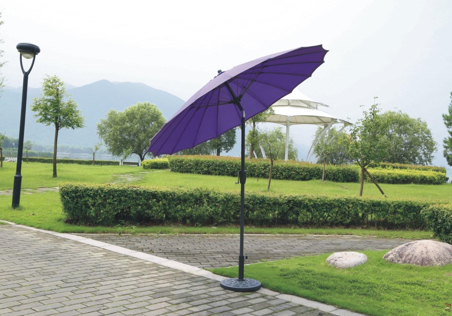 Fibreglass Outdoor Garden Umbrella Parasol With Tilt