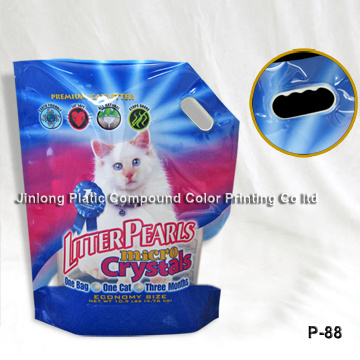 Stand up Cat Litter Bag with Hadle