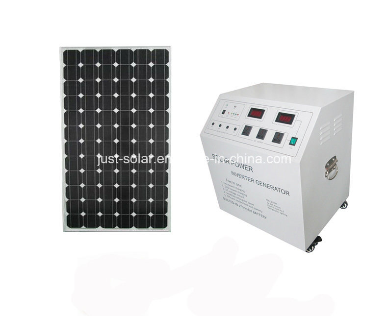 Pure Sine Wave 300W Solar Home Power System for Lighting Area