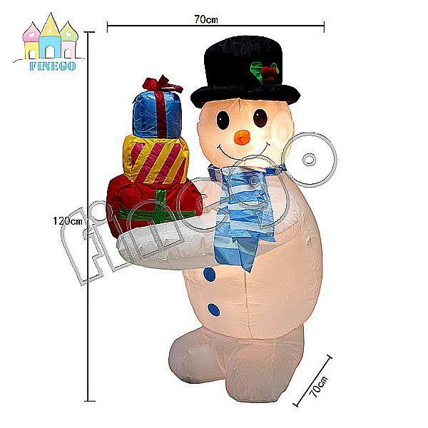 Inflatable Cheap Christmas Gift Decoration Toy Snow Man Cartoon Balloon pictures & photos