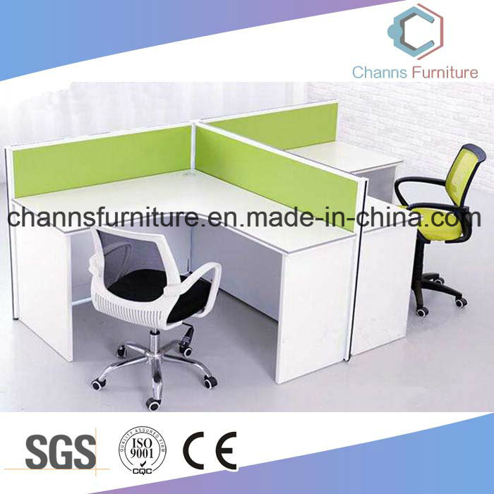 China Popular Double Workstation Style Office Desk With Melamine Partition Cas W1852 Computer Table