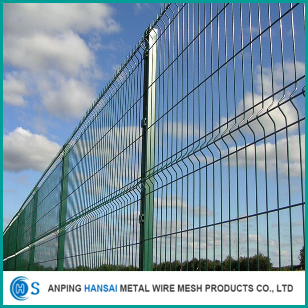 China Top Quality Peach Post 3D Curved Welded Wire Mesh Fence Photos ...