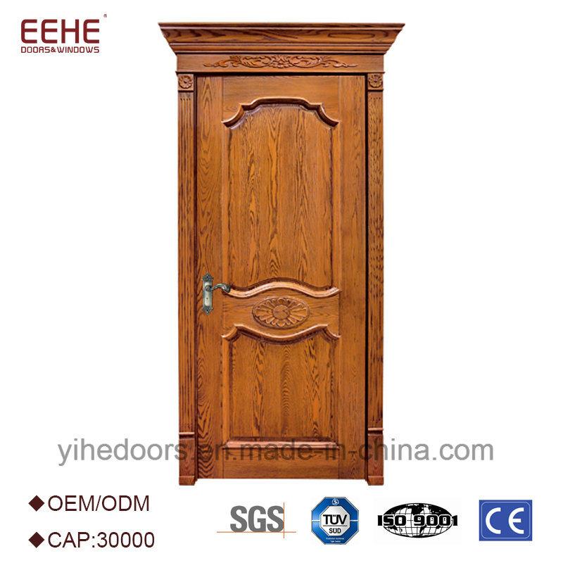 Hot Item Single Solid Teak Wood Main Panel Door Design