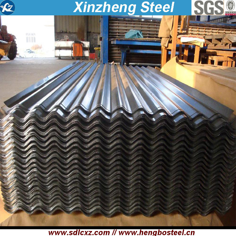 0.125mm-0.3mm Galvanized/Galvalume Corrugated Steel Roofing Sheet for Building Material