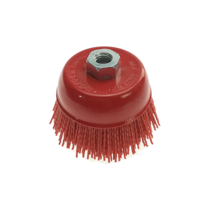 Red Nylon Brush Wire Cup Brush pictures & photos