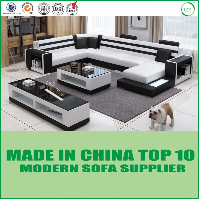 [Hot Item] Office Furniture Living Room Furniture Modern Corner Sofa Set
