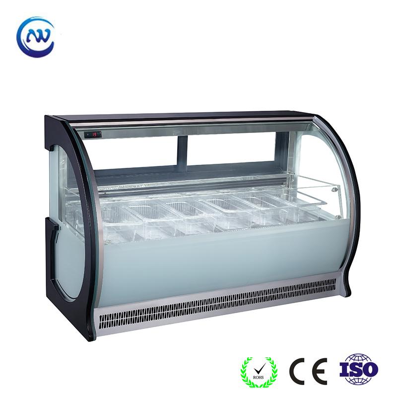China Ice Cream Counter Refrigerator Glass Door Freezer Showcase F G550 W