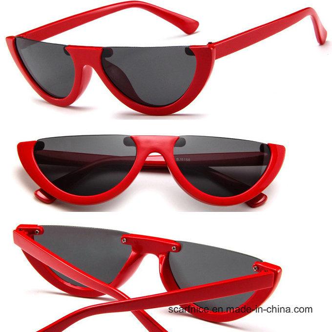 cf987b3c92 Cool Trendy Half Frame Rimless Cateye Sunglasses Women 2018 Fashion Clear  Brand Designer Sun Glasses for Female Oculos De Sol