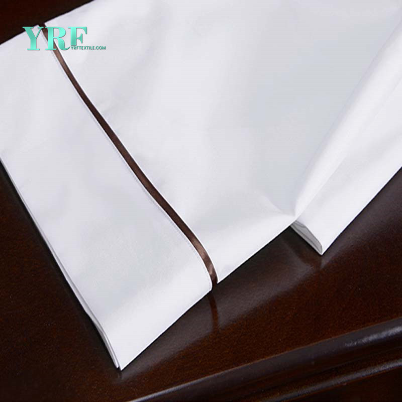China Yrf Hotel Supplier Super King 100 Cotton Bed Sheet Pillow