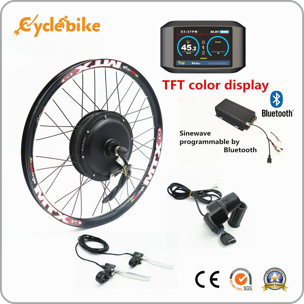 China Bluetooth and Colorful Display! 3000W Electric Bicycle/Ebike Kit with Rear Brushless Motor - China Electric Bike Kit, Electric Bike Parts