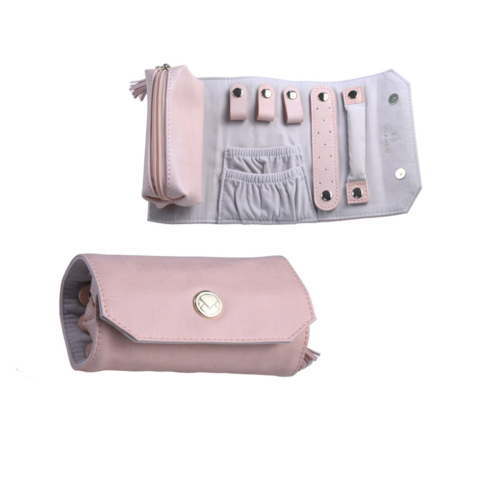 Hot Item Lovely Pink Jewelry Bag For Las 8853