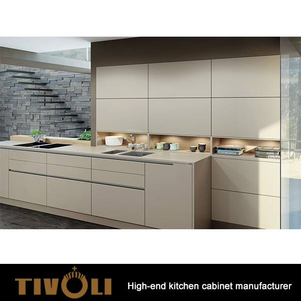 China Fashion Push Open Modern Kitchen Cabinets With High Quality Hardware Tv 0188 Hotel Furniture