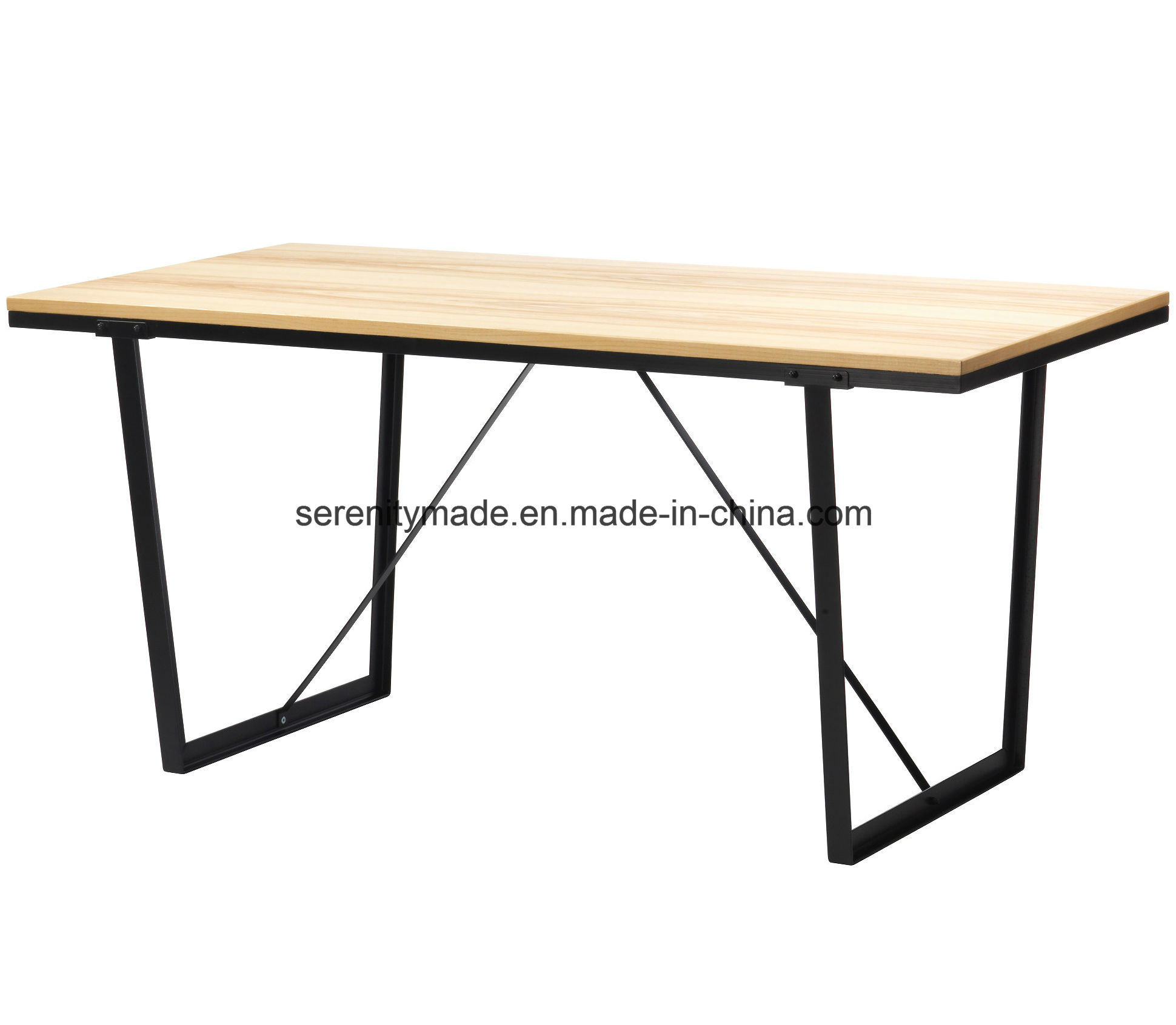 - China Metal Frame Wood Surface Corner Canby Trestle Coffee Table