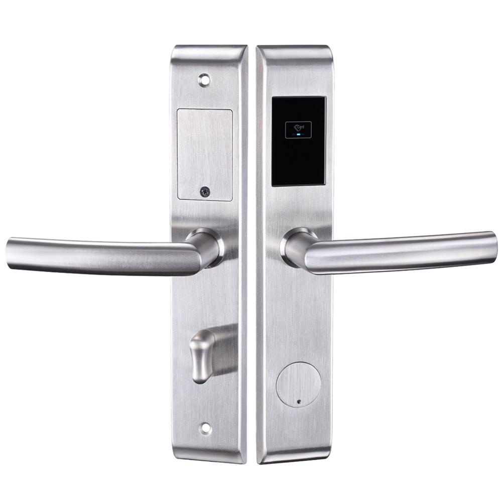 China Factory Electronic Lock Smart Digital Card Hotel With Gold Keypad Door Keyless Intelligent System