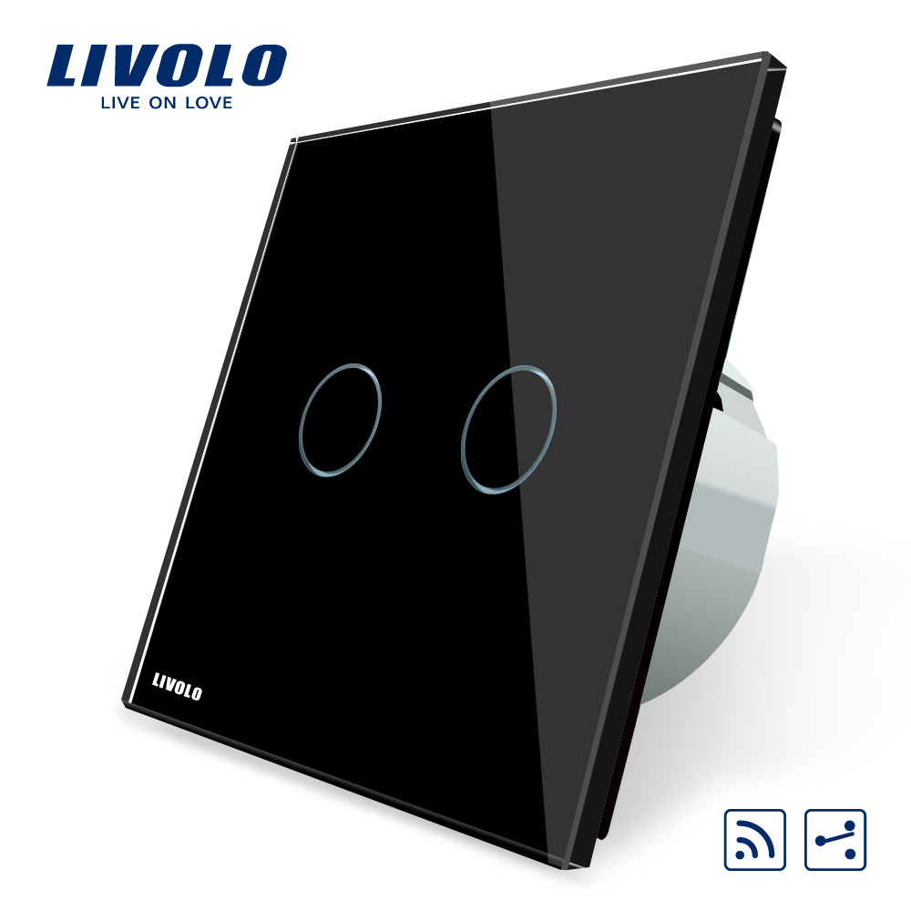 China Livolo Wall Sensor Two Gang Way Remote Switch Vl C702sr 12 Outet Electric For Home