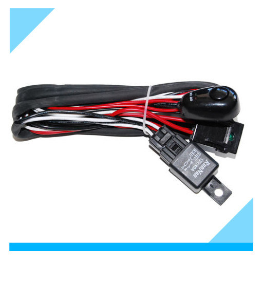 [Hot Item] LED Switch Driving Light HID Relay Wiring Harness on
