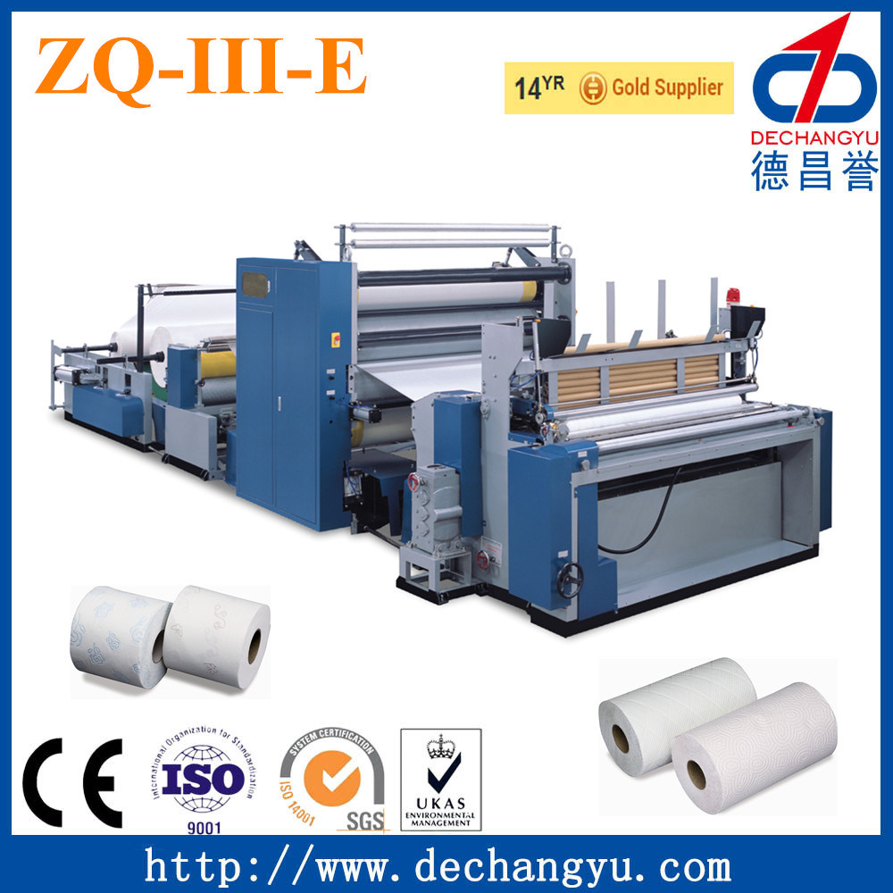 China Zq-III-E Toilet Paper Manufacturing Plant - China Toilet Paper ...