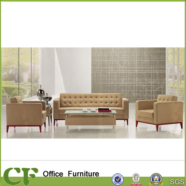Hot Item Commercial Office Furniture Modern Leather Sofas Set Office Reception Sofa