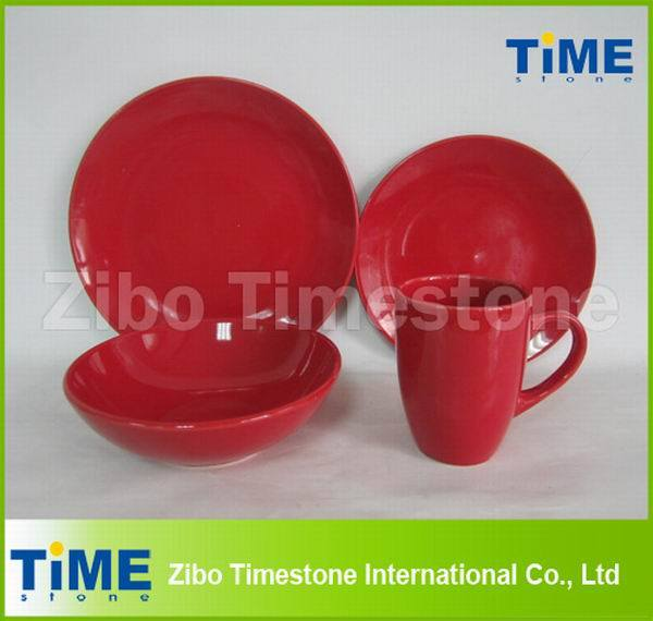 Ceramic Stoneware Luxury Red Dinnerware