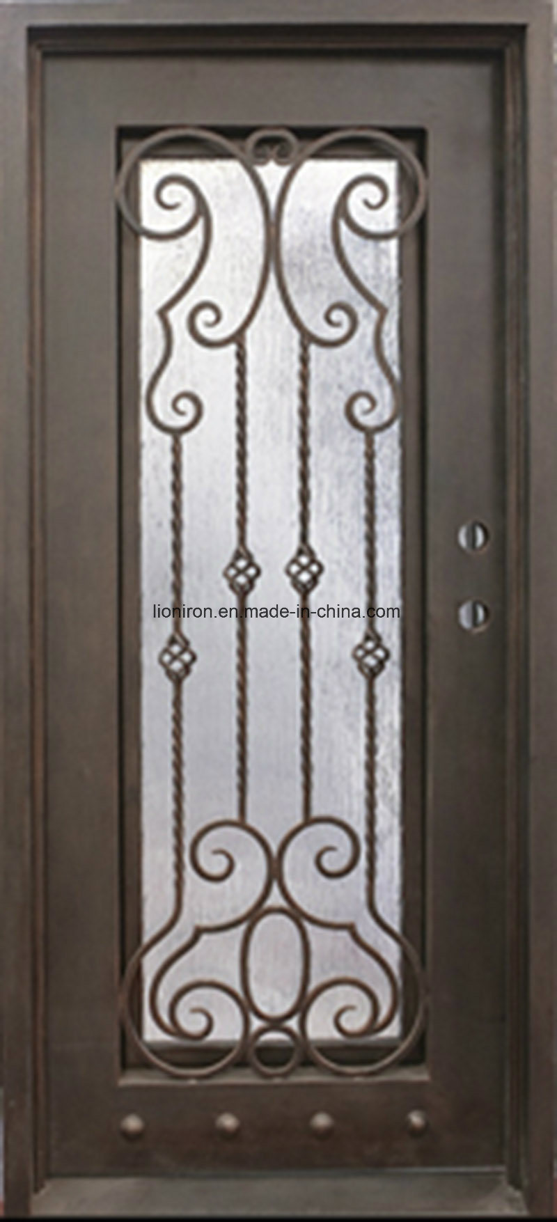 China Ornamental Iron Single Entry Doors Wholesale Prices For House