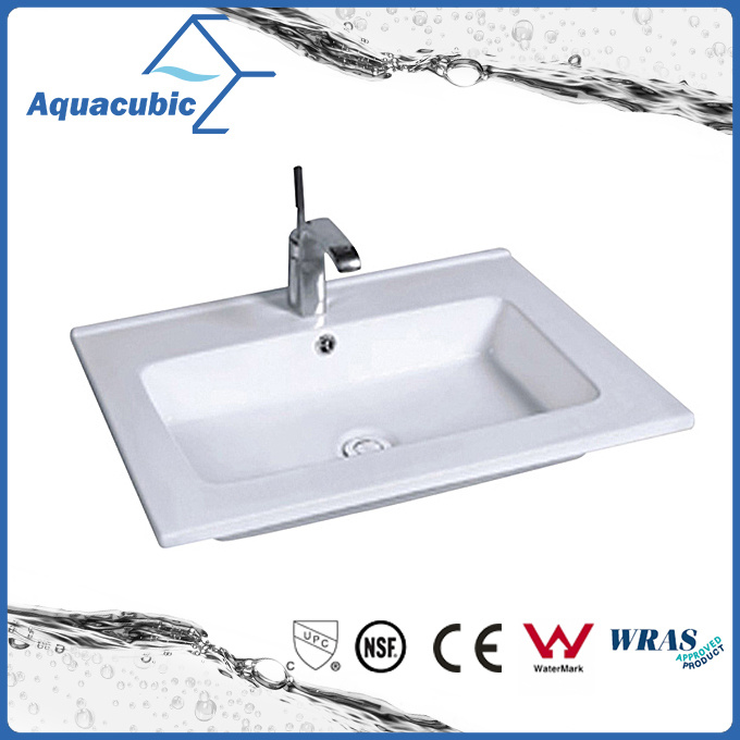 China One Piece Bathroom Basin And Countertop Sink Acb1601 China