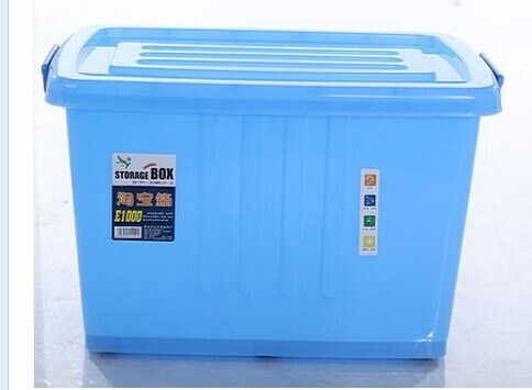 China 170L Big Size Bule Colorful Plastic Storage Box with Lock