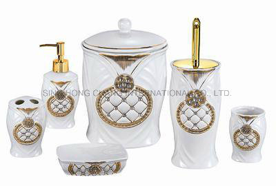 Modern Ceramic Bathroom Set 6PCS