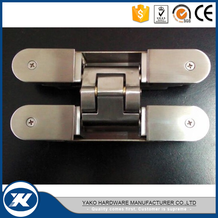 Stainless Steel Furniture Hardware 3D Adjustable Invisible Door Hinge