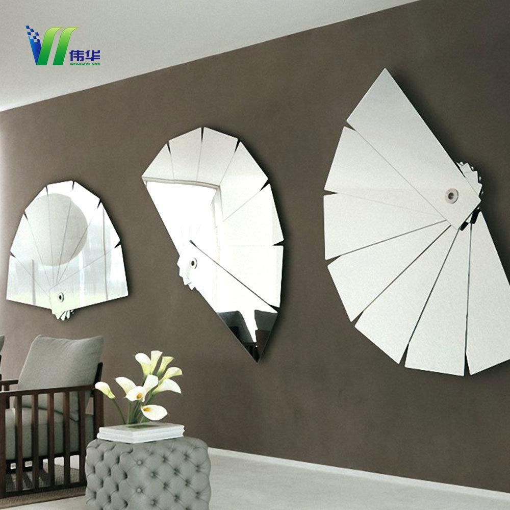 China Wall Mirrors Panels Living Room Decorative Modern Silver ...