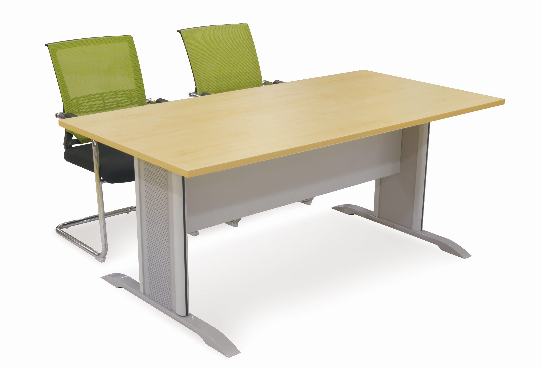 China Metal Leg Office Furniture Wood Office Table Conference Table - Wood and metal conference table